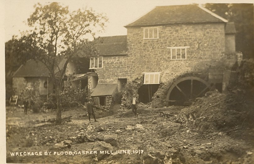 Gasper Mill following dam burst